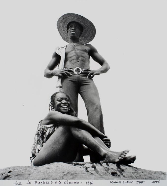 Malick Sidibe, Sur les Rochers a la Chaussee, 1976, via Jack Shainman Gallery