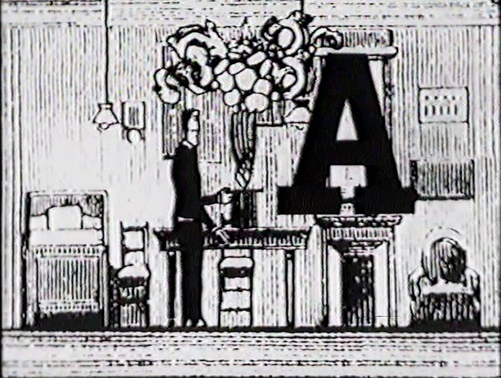 Jan Lenica's A (1965). Image courtesy of the Ruben/ Bentson Moving Image Collection