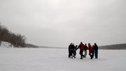 Square Dancing on frozen lake in Northern MN