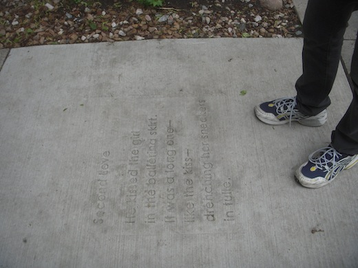Everyday Poems for City Sidewalk, conceived by City Artist in Residence. Photo courtesy of Public Art St. Paul.