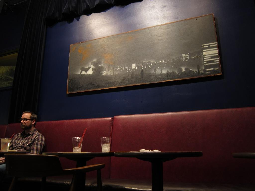 "The much wondered-over John Bowman painting, ""Crossings"", in situ at the 331 in MplsPhoto by Kurt Froehlich, courtesy of the author"