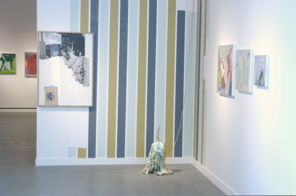 Installation view of Paintings for Germans, Sculpture for Snobs, Rochester Art Center, 2008.