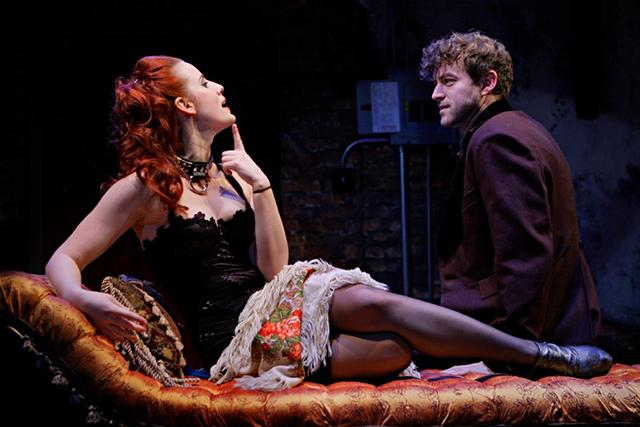 Anna Sundberg (Vanda) and Peter Christian Hansen (Thomas) in 'Venus in Fur' at the Jungle through March 10. Photo: Michal Daniel