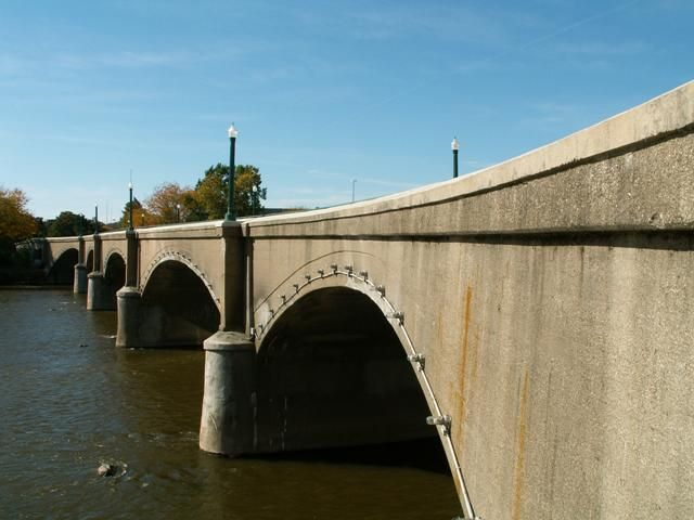 Gillett Bridge in Grand Rapids, MI - in the heart of this year's ArtPrize exhibition and site of a specially selected installation by a Minnesota artist this year.
