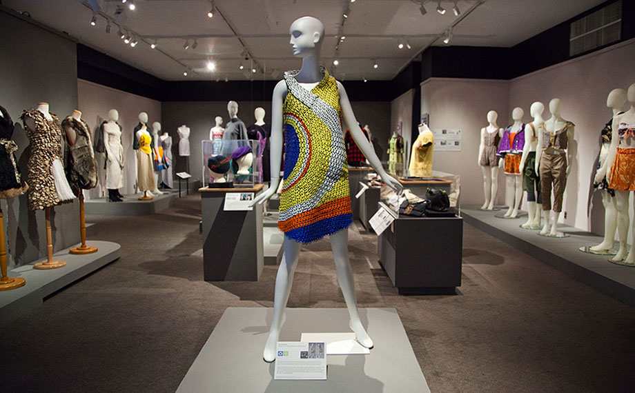 Redefining, Redesigning Fashion: Designs for Sustainability, installation view, courtesy of the Goldstein Museum of Design.