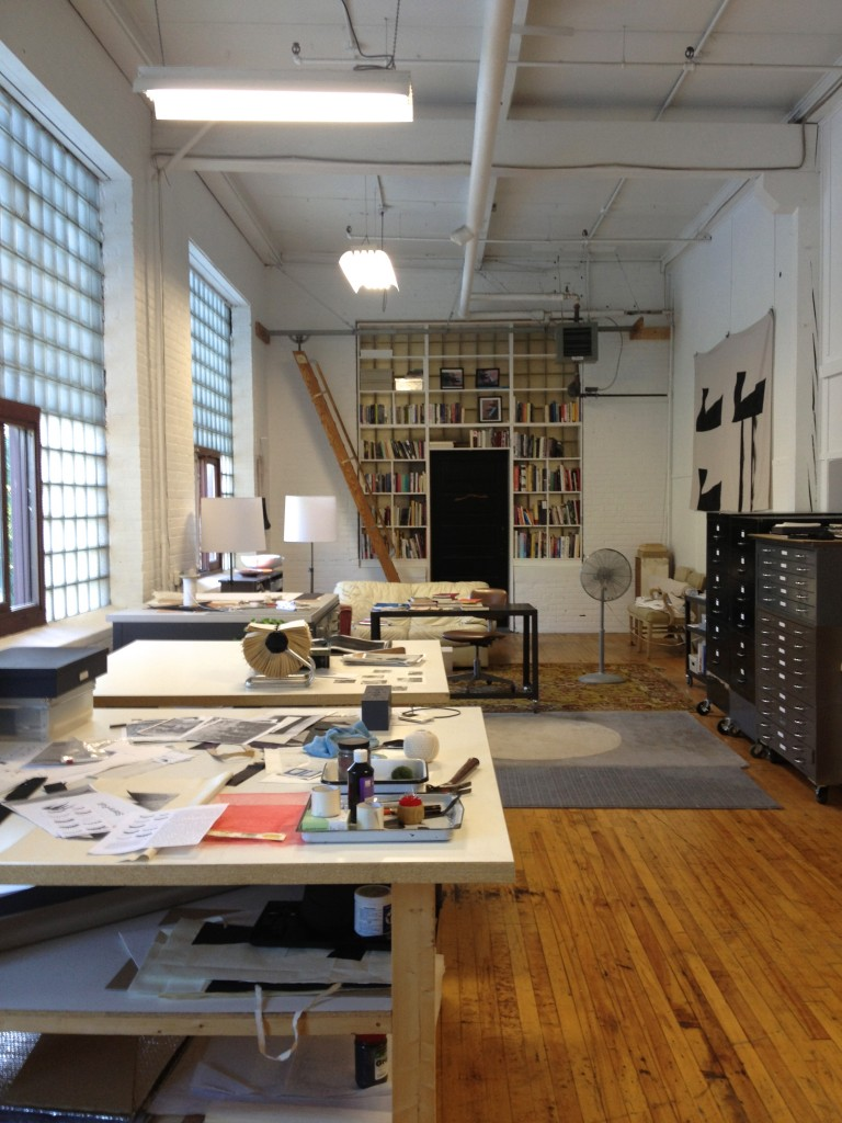 The artist's studio. Photo by Jehra Patrick