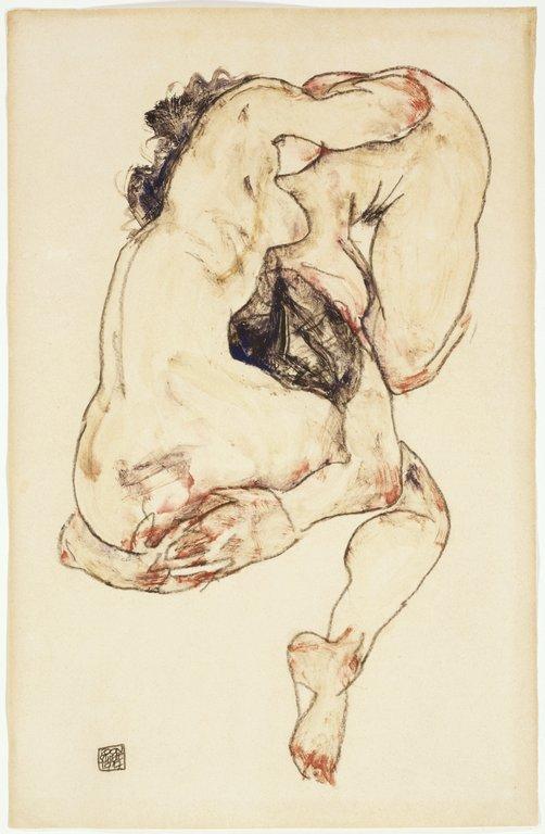 Egon Schiele, Two Figures