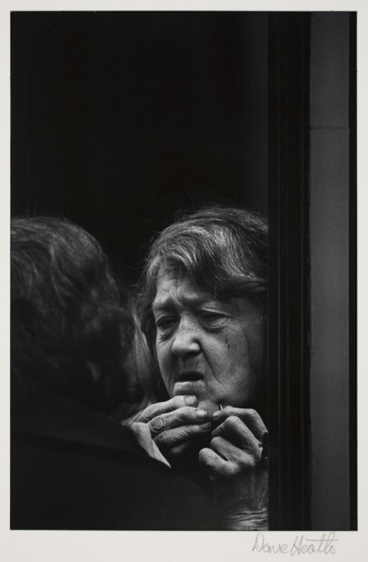 "Dave Heath, ""Untitled (Old Woman at Mirror),"" 1965, gelatin silver print . Museum purchase. Courtesy of the Weisman Art Museum."