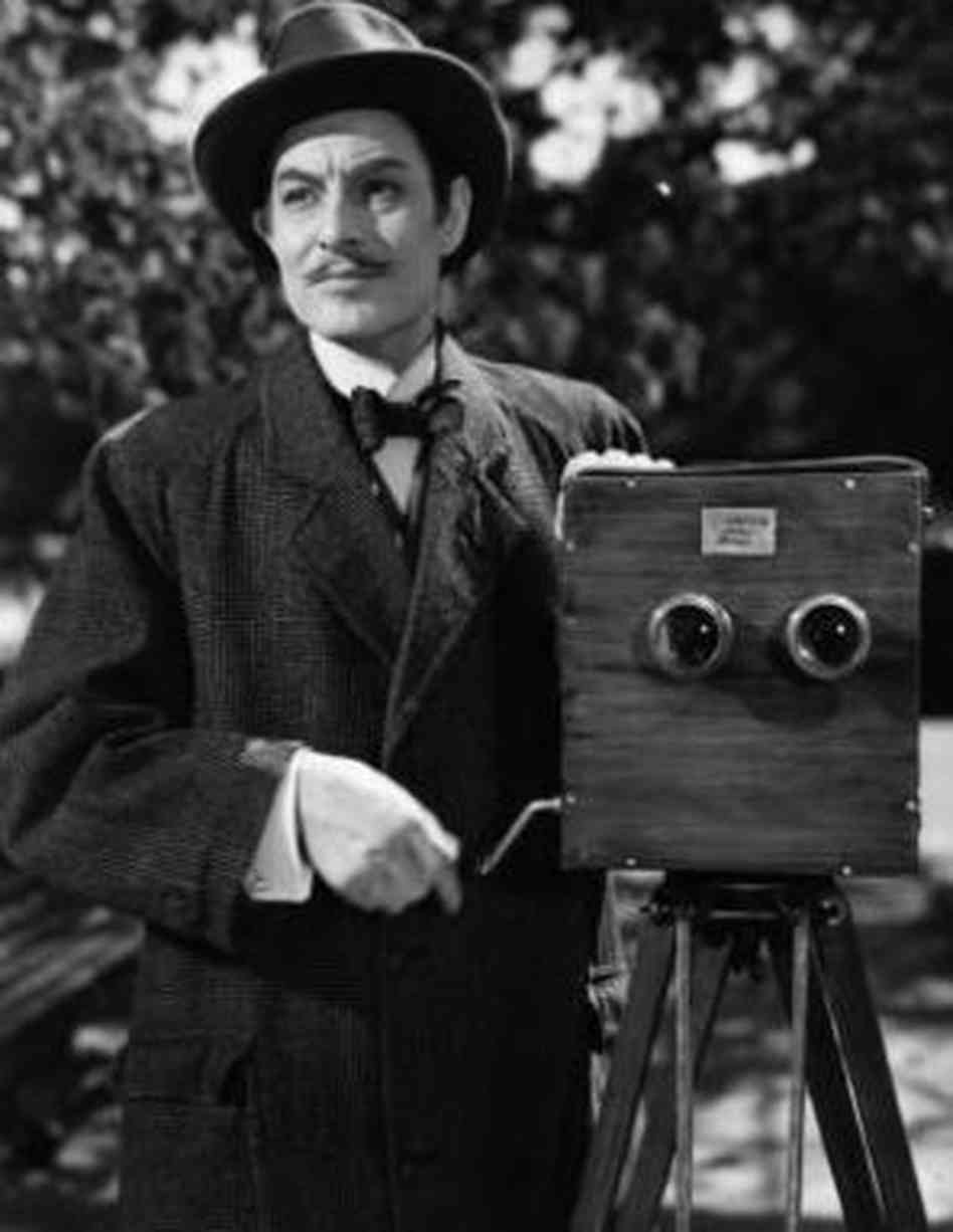 Robert Donat as early cinema pioneer William Friese-Greene in the 1951 film The Magic Box. Image courtesy of Studiocanal Films Ltd.