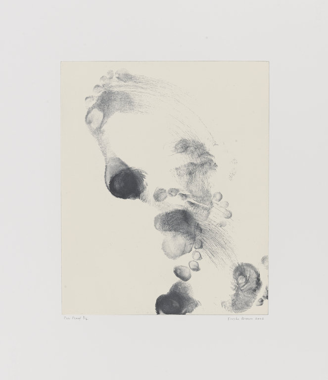 Trisha Brown, Untitled (Set One), soft ground etching with relief roll on paper, 2006. Photo: Walker Art Center