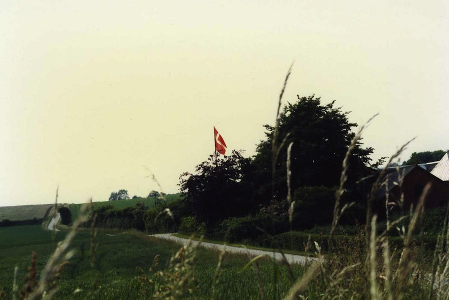 Photo of the Danish flag, in Langeland, by higgledy-piggledy. Courtesy of flickr.