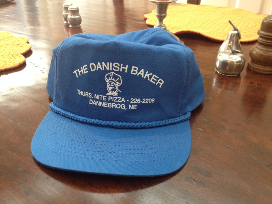 Hat from the Danish Baker of Dannebrog, Nebraska.
