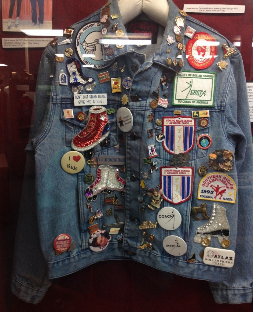 Jean jacket from the National Roller Skating Museum. Photo by the author.