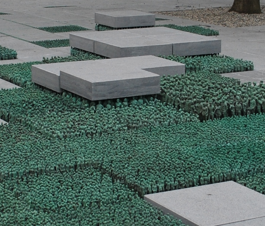 """Grass Roots Square"" by Do-Ho Suh (Korea/USA) at the square in front of Regjeringskvartalet R6"