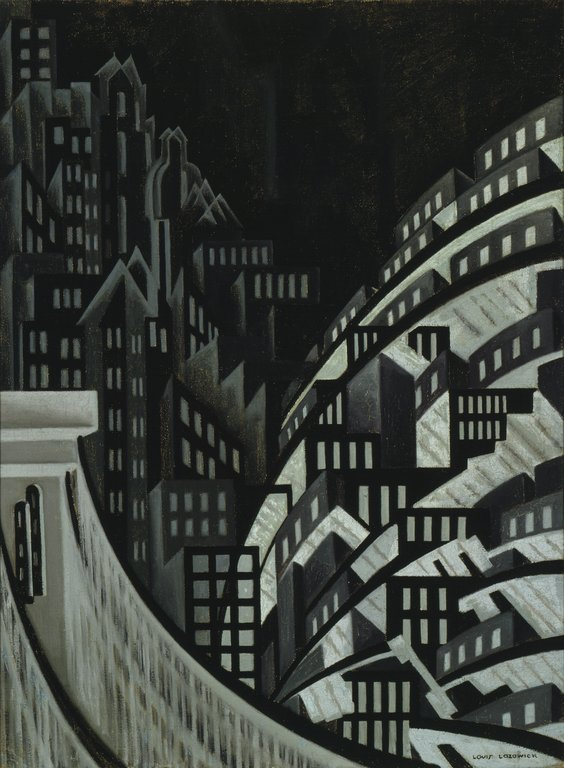 Louis Lozowick, New York, oil on canvas, ca. 1925. Courtesy of the Walker Art Center
