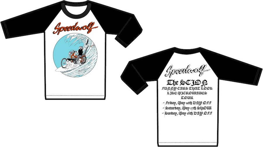 Speedwolf merchandise. From the band's Facebook page.
