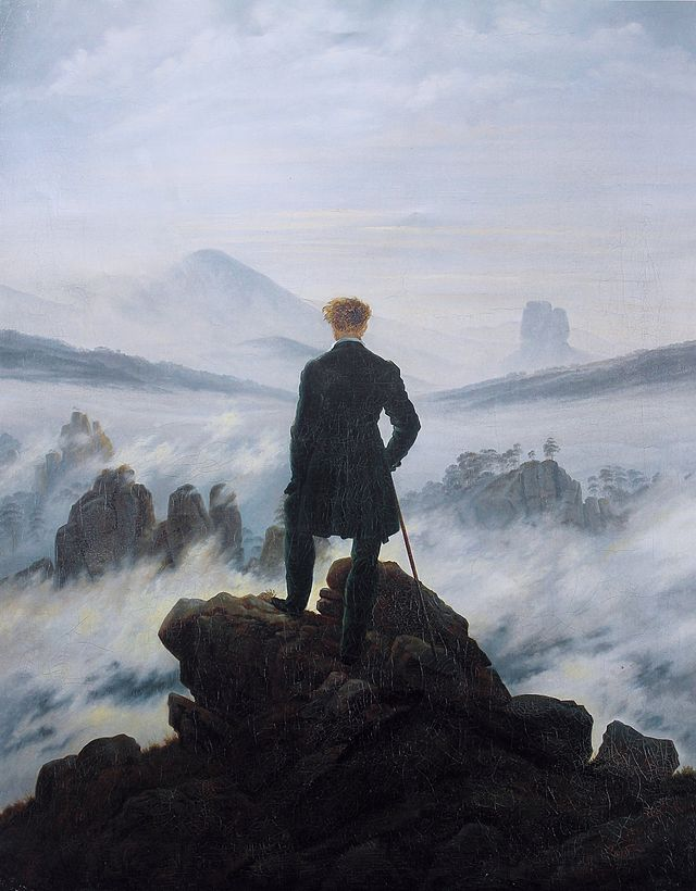 Caspar David Friedrich, Wanderer above the Sea of Fog, 1817