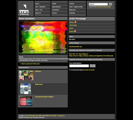Old artist homepage.