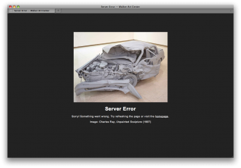 walkerart.org server error page
