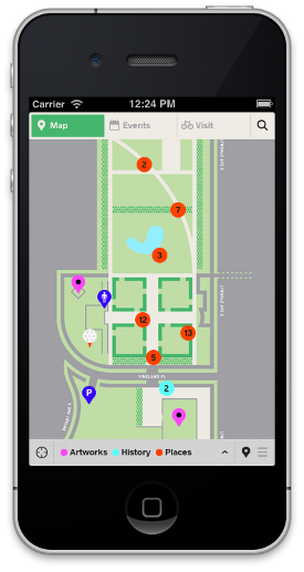 Map view of the garden