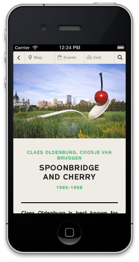 Detail view of Spoonbridge and Cherry