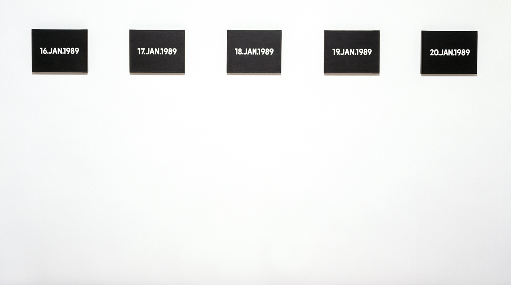 "On Kawara, ""TODAY series,"" 1989. Collection: Walker Art Center"