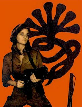 An SLA publicitiy image featuring Patty Hearst. Source: Wikipedia