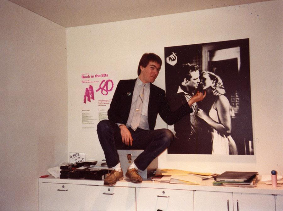 Carr in his office at the Walker. Photo: Margy Ligon