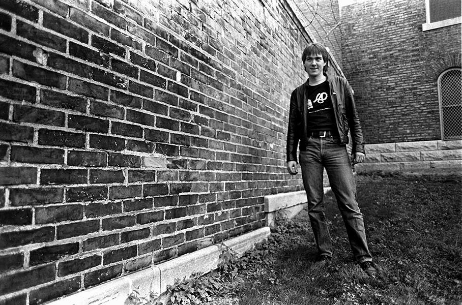 Tim Carr, circa 1979, wearing his M-80 t-shirt. Photo: Greg Helgeson