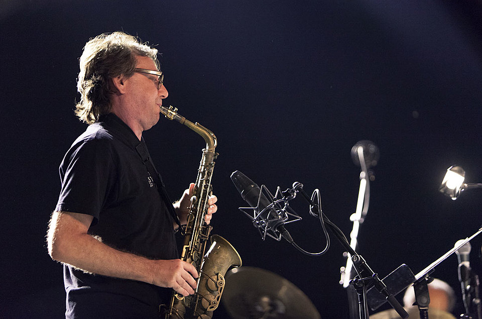 John Zorn at Jazz Middelheim 2012 Photo: Bruno Bollaert, Flickr, used under Creative Commons license