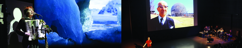 (left) Cynthia Hopkins. Photo: Ian Douglas. (right) Sam Green/Yo La Tengo. Photo: Sam Allison