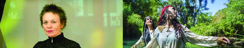 (left) Laurie Anderson. Photo: courtesy of the artist. (right) CocoRosie. Photo: Rodrigo Jardon