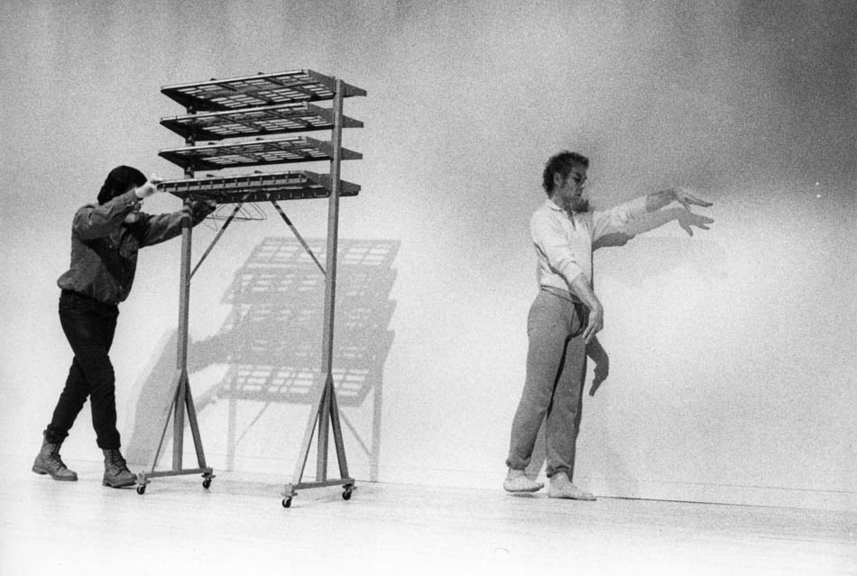 Merce Cunningham and John Cage performing at the Walker Art Center, March 1972. Photo: Walker Art Center Archives