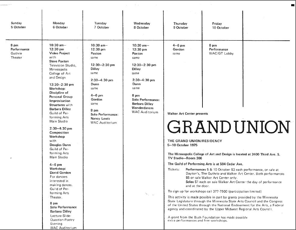 GrandUnion1975Program