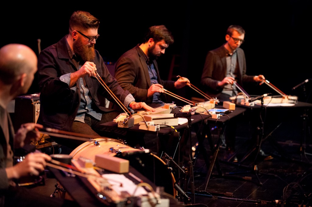 "So Percussion performing Bryce Dessner's ""Music for Wood and Strings"". Photo: Jayme Halbritter"