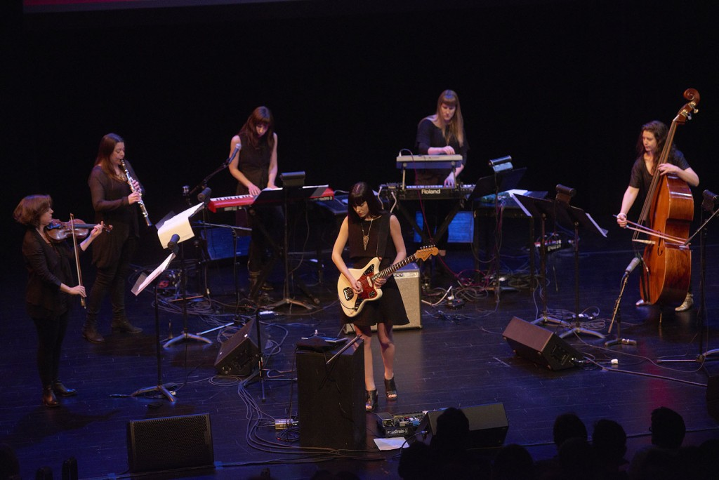 Noveller performs with Victoire at the Walker Art Center as part of a co-presentation with the SPCO's Liquid Music series on May 9, 2015. Photo: © Tony Nelson
