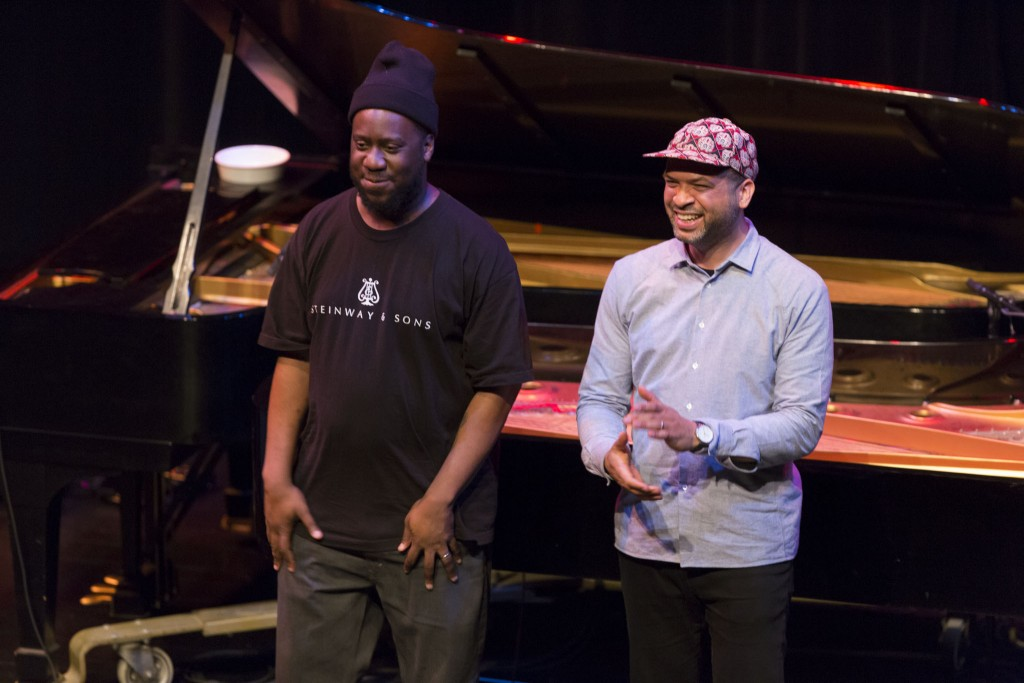 pa2015Moran-Glasper Performing Arts; Music. Jason Moran and Robert Glasper perform in the McGuire Theater, May 2, 2015. Sponsered by Steinway & Sons; Additional support provided by Producers' Council members Leni and David Moore, Jr. / The David and Leni Moore Family Foundation and Mike and Elizabeth Sweeney. Two of today's most influential contemporary jazz pianists team up for a US-exclusive summit combining their artistry and virtuosity in what promises to be an unforgettable evening. Informed by the entire history of jazz as well as essential American musical forms of hip-hop, blues, gospel, and soul, Jason Moran and Robert Glasper are high school friends from Houston who have since changed the face of American jazz in the 21st century.