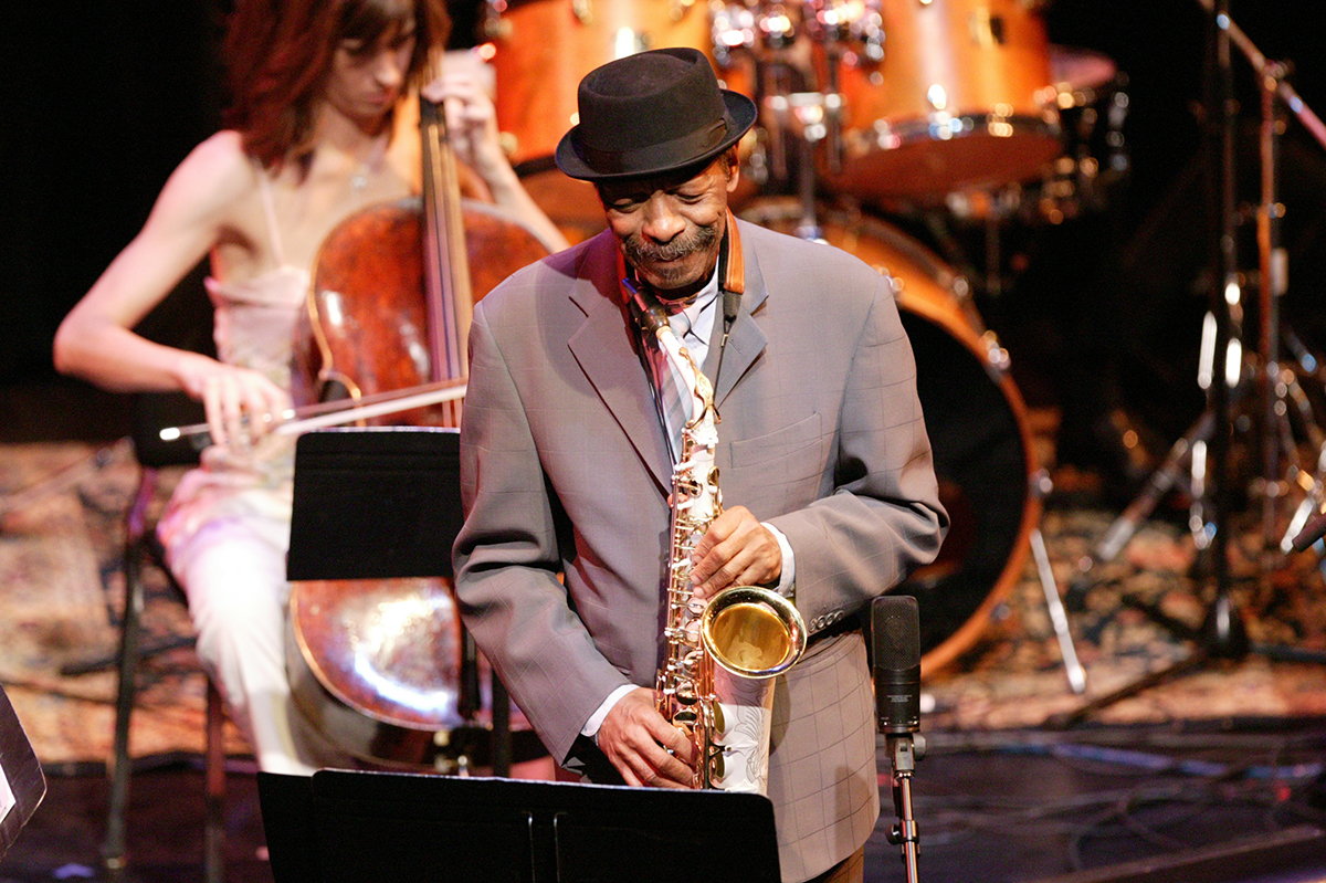 Ornette Coleman performs with the Bang on a Can All-Stars in 2005 as part of a three-day celebration of his music, The Festival Dancing in Your Head.