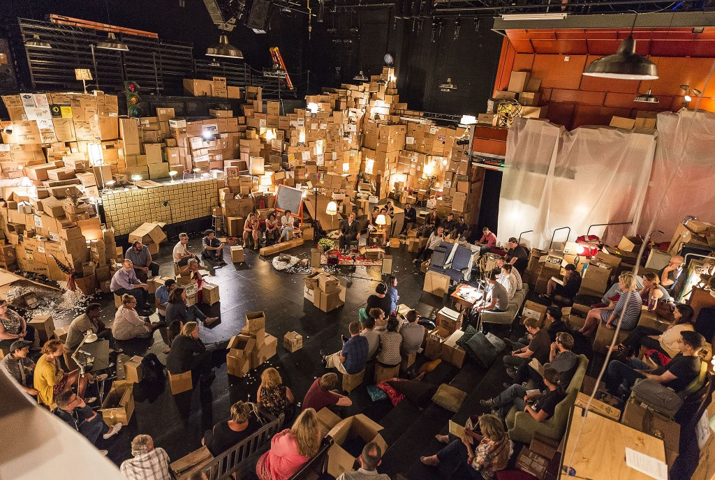 Geoff Sobelle's The Object Lesson at Kirk Douglas Theater, Los Angeles, in 2015, presented by Center Theatre Group. Photo: Craig Schwartz