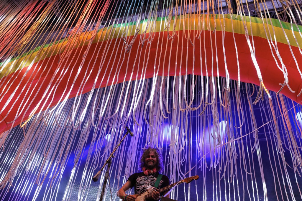 The Flaming Lips' Wayne Coyne at Rock the Garden 2016. Photo: Gene Pittman