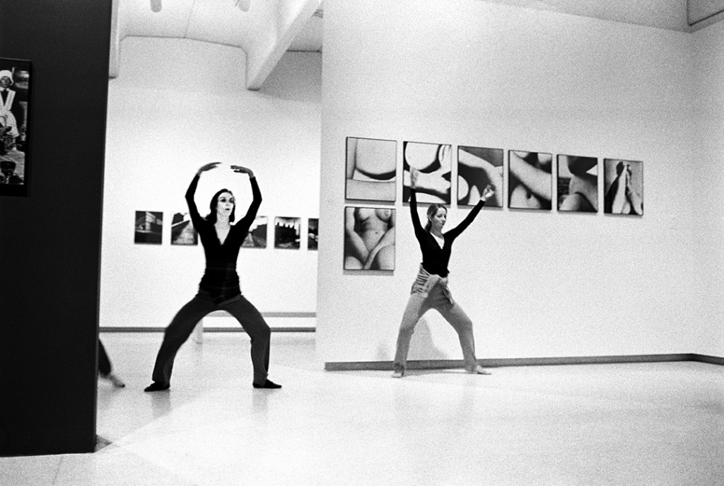 Merce Cunningham Dance Company performing Event #32 in the gallery alongside Mario Merz's Fibonacci Igloo (1972), Walker Art Center, Minneapolis, March 12, 1972. Photo: James Klosty, courtesy the artist