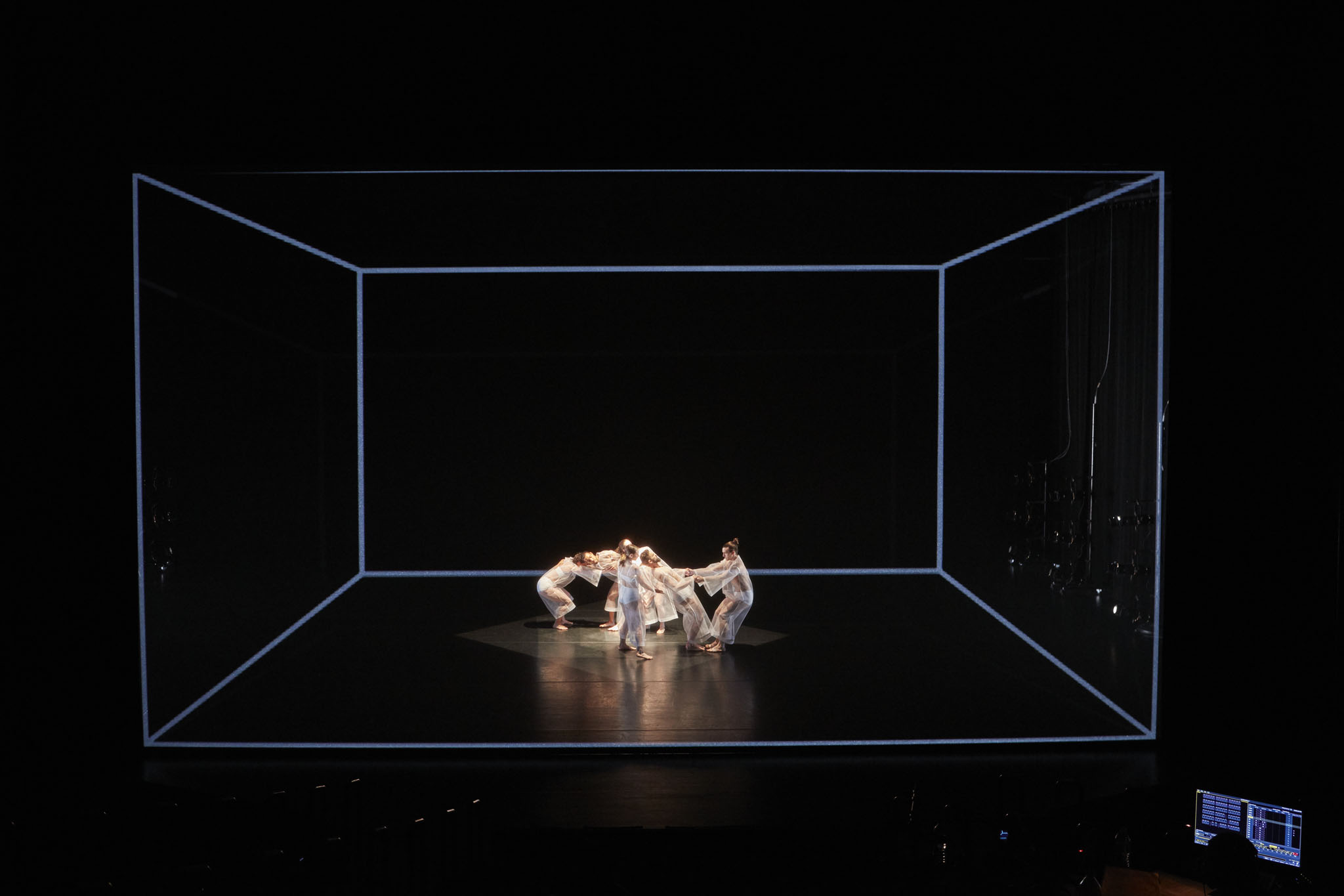 Charles Atlas, Rashaun Mitchell, and Silas Riener's Tesseract in the Walker's McGuire Theater.