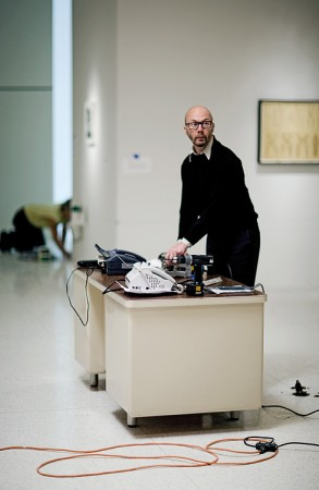 "Steven Pippin installing ""Fax 69"""