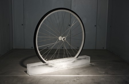 "Roman Signer's ""Rad (Wheel)"""