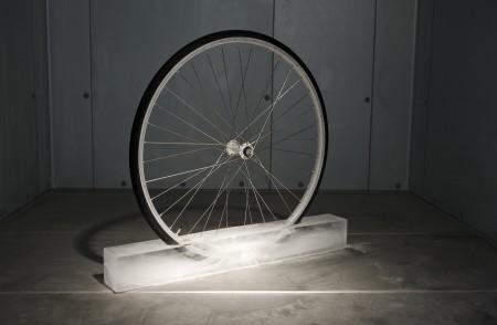 "Roman Signer's ""Rad (Wheel)"""