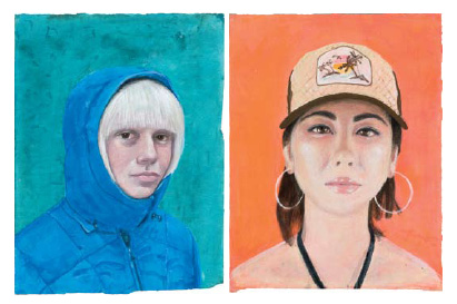 Two untitled portraits from the Melba Price series acquired by the Collectors' Council Acquisitions Fund in 2009.