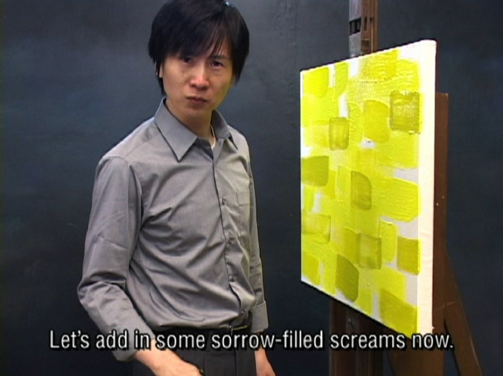 Kim Beom Painting yellow scream2