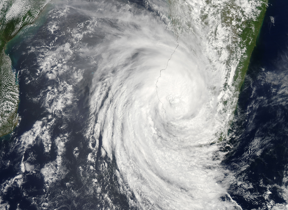 Tropical Cyclone Haruna. Image: NASA