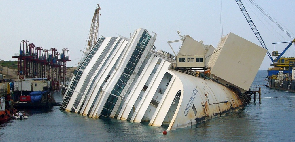 Costa Concordia salvage operation in progress. Photo: Wikipedia