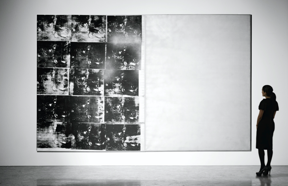 Andy Warhol's Silver Car Crash (Double Disaster), 1962, as presented for sale by Sotheby's